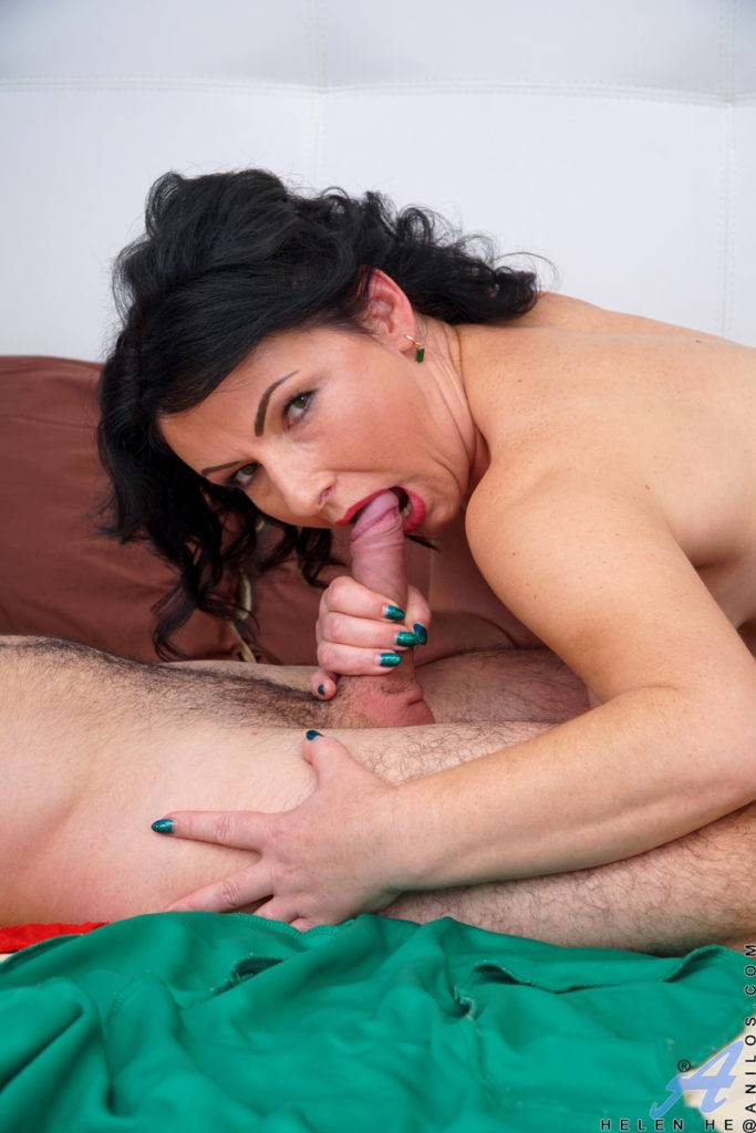 Gorgeous Milf Helen He With Big Boobs Sucking And Fucking With Her Toy Boy At Anilos
