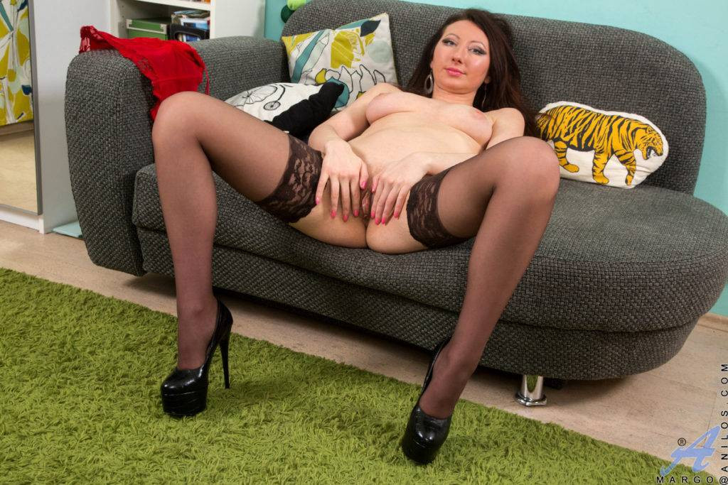 Lusty Russian Housewife Margo Playing With Her Toy At Anilos