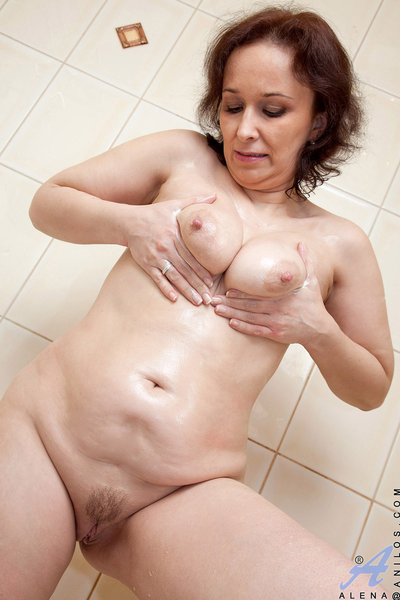 Naughty Granny Alena Gets Ready To Take A Shower In Front Of The Camera At Anilos