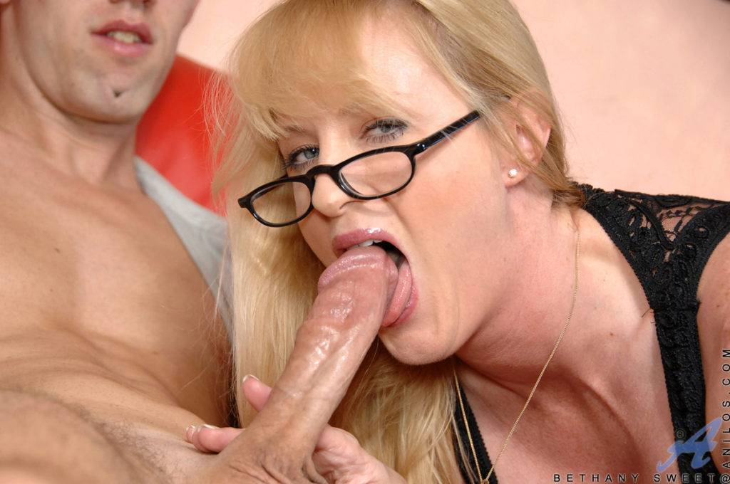 Blonde Milf Bethany Sweet Playing With Her Toy Boy At Anilos