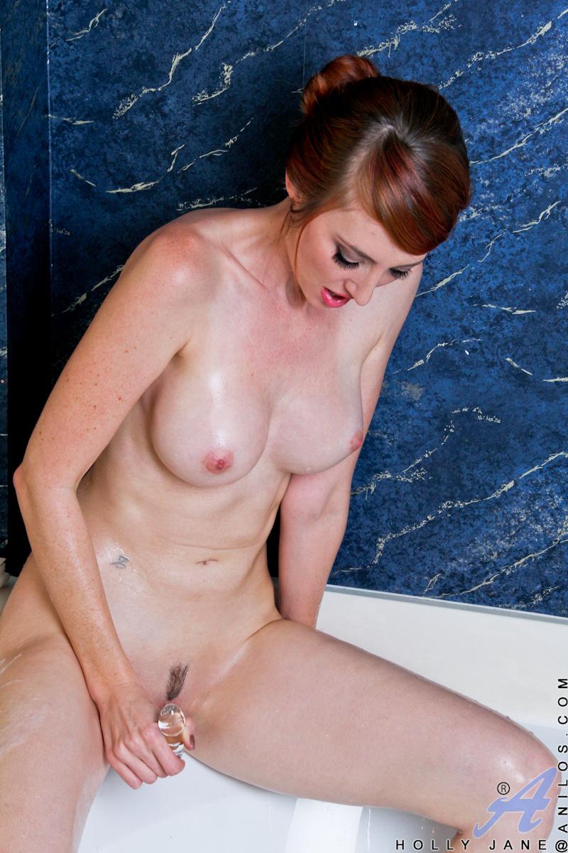 Stunning Redhead Milf Holly Jane Masturbating In The Bath With Big Dildo At Anilos
