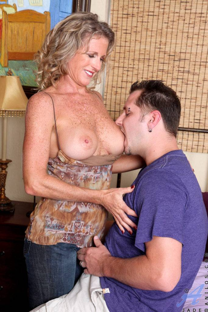 Cougar Milf Jade Gets A Hardcore Pussy Ride From A Hard Cock At Anilos