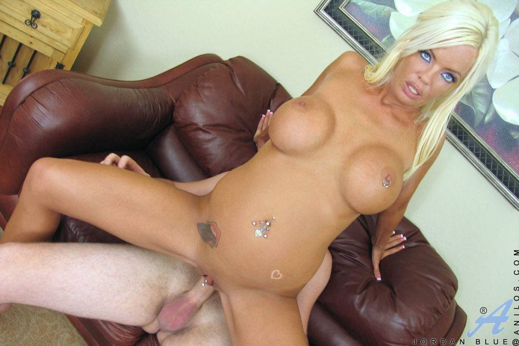 Blonde Milf Jordan Blue Hops Her Pussy On A Rocked Cock At Anilos