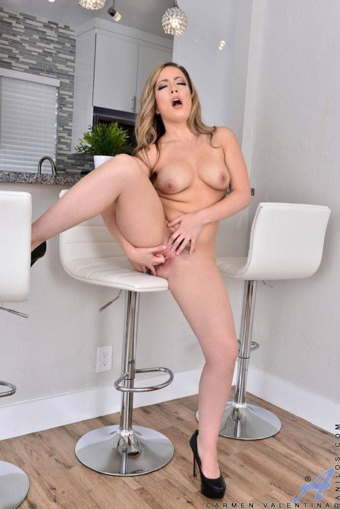 Sexy Cute Mom Carmen Valentina Fingering Herself At Anilos