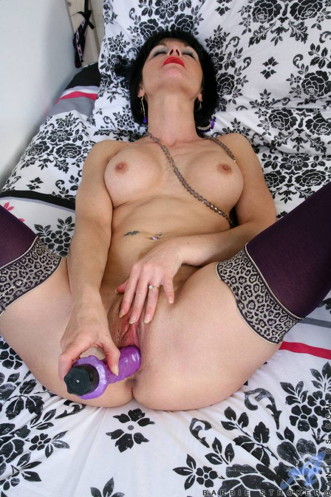 Mature Barbie Stroker Pummels Her Mature Pussy With A Dildo At Anilos