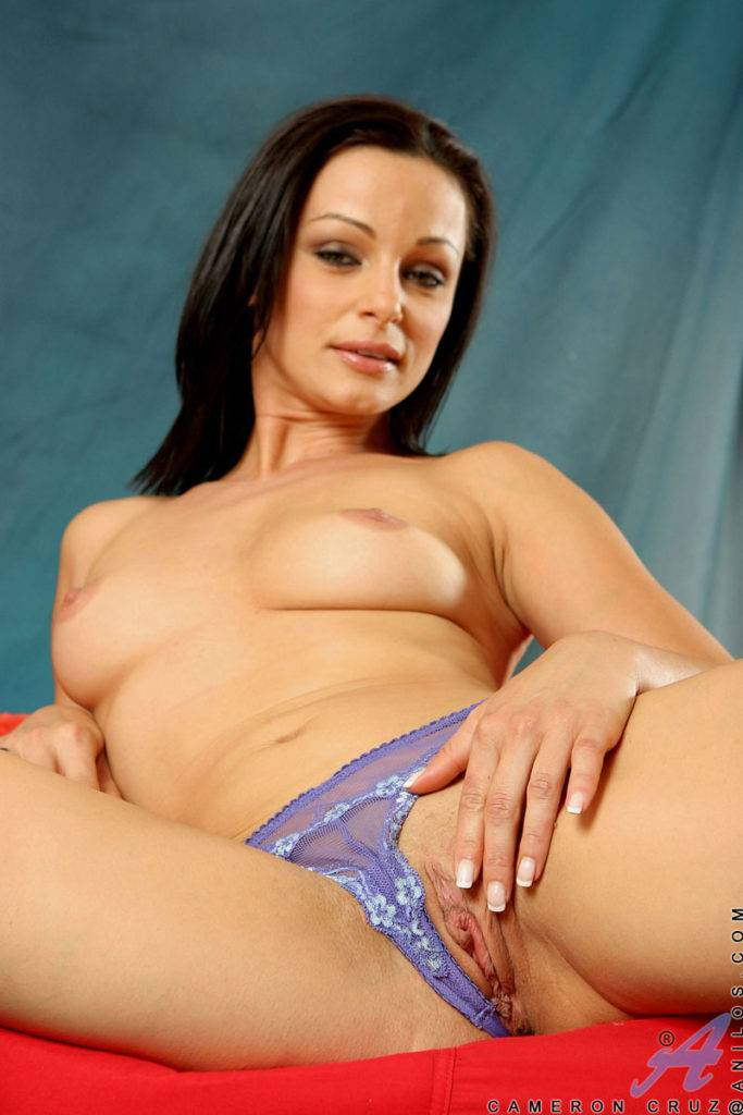 Sexy Babe Cameron Cruz Fingers Herself To An Intense Orgasm At Anilos