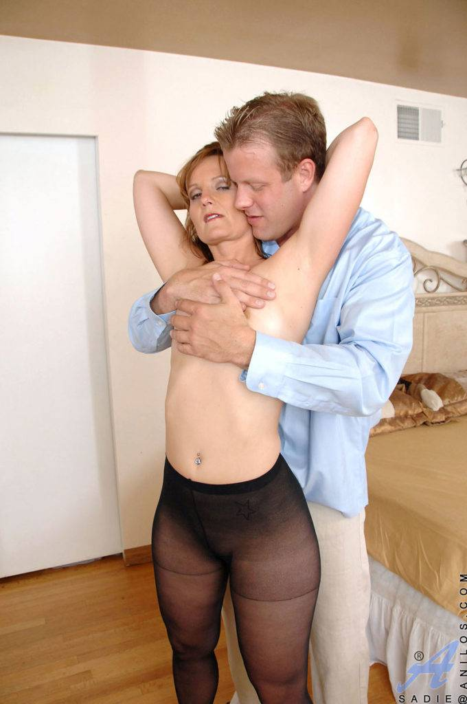 Sexy Mom Sadie Flirts With A Younger Lover At Anilos