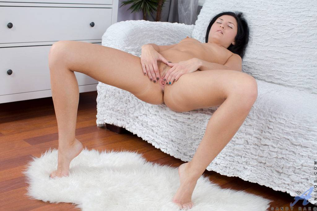 Hot Russian Mom Sandy Rae Fingering Her Shaved Sweet Pussy At Anilos