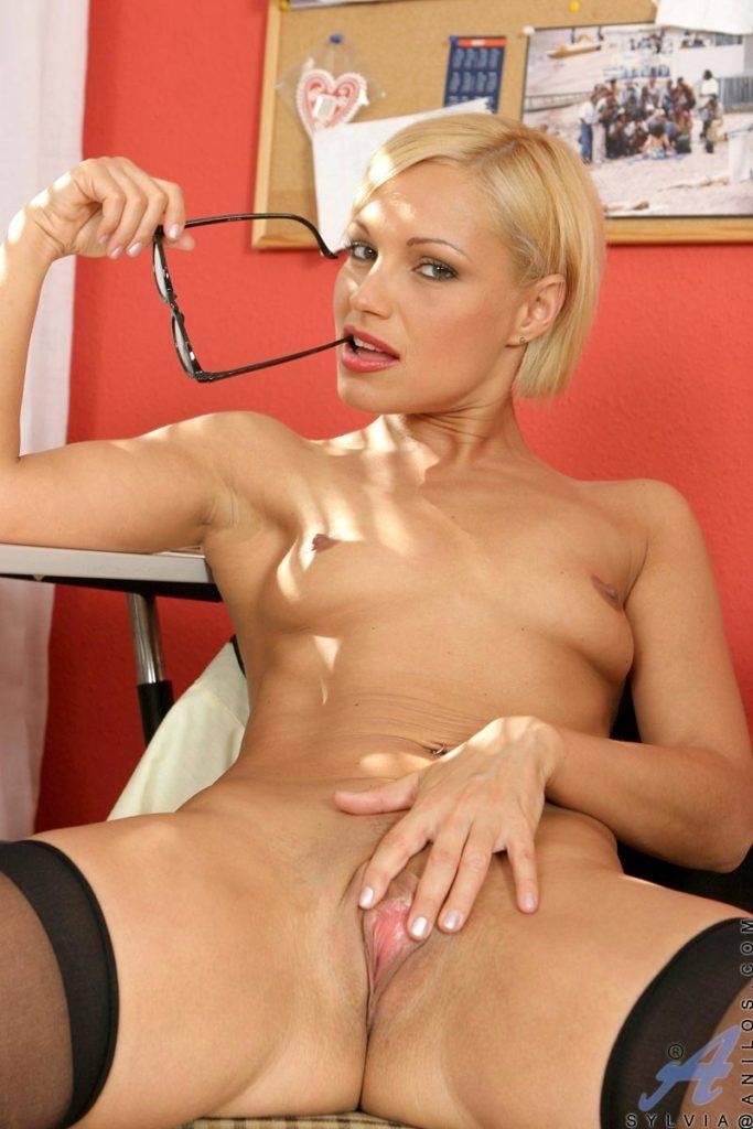 Sexy Blonde Milf Sylvia Gets Naughty At Anilos