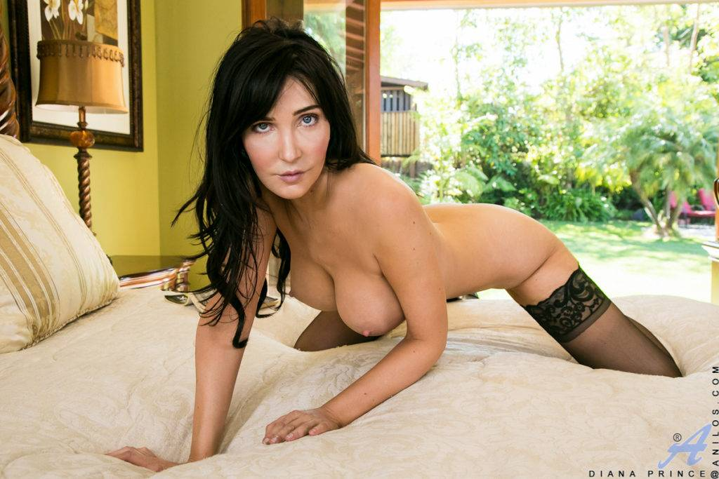 Brunette Mom Diana Prince Shows Off Her Sweet Tits At Anilos