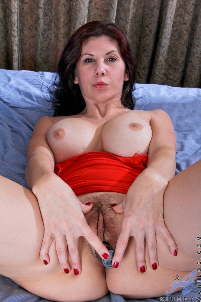 Busty Natural Mom Playing With Herhairy Pussy At Anilos