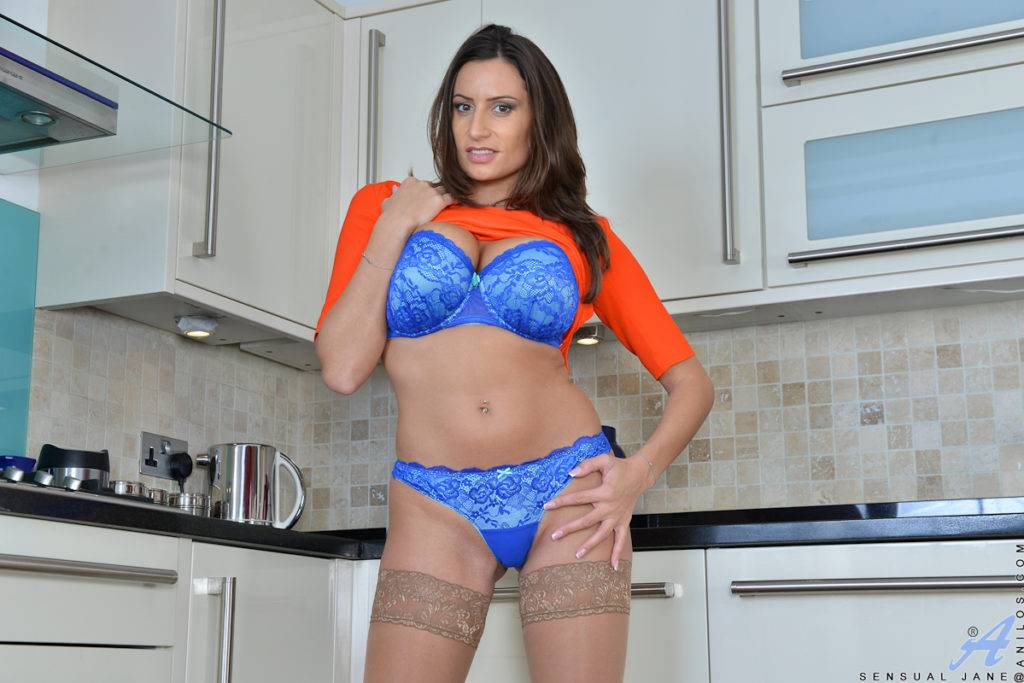 Big Tits Sensual Jane Masturbate In The Kitchen At Anilos